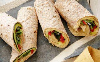 Hummus and Veggie Wrap