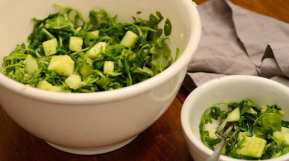Arugula Cucumber Salad With Lemon Dressing
