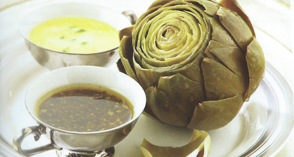 Steamed Artichokes with two sauces