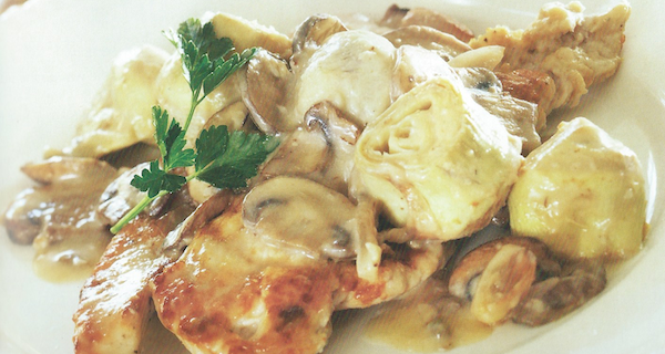 Turkey Marsala with Artichokes