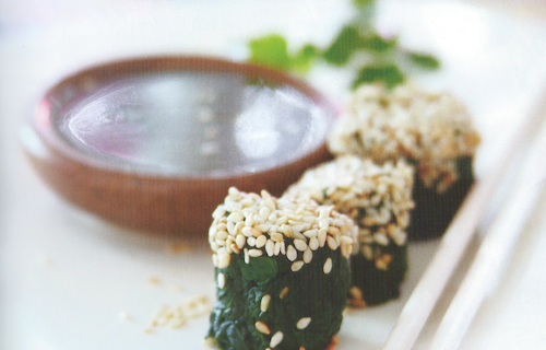 Sesame Spinach Sushi