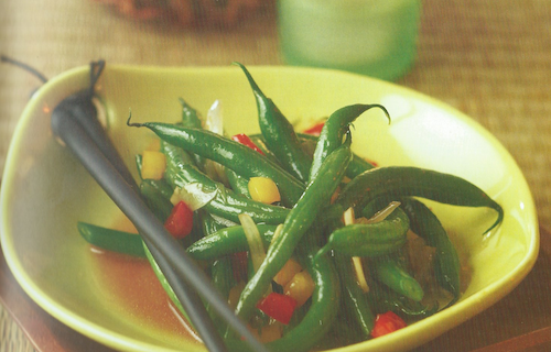 Sweet and Sticky Green Beans