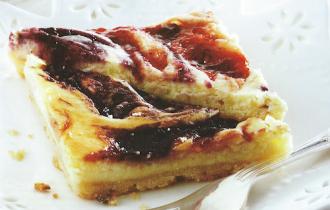 Berry Swirl Cheesecake Triangles